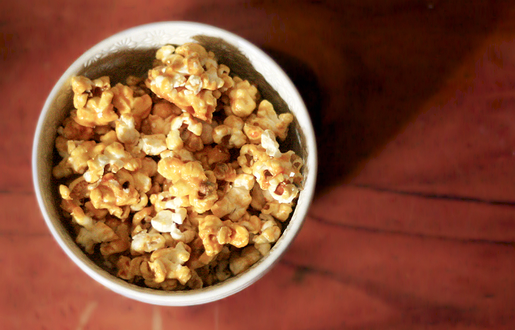 Salted Caramel Coconut Popcorn Recipe